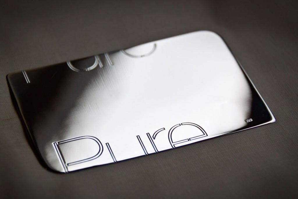 tarjeta plástica metal silver