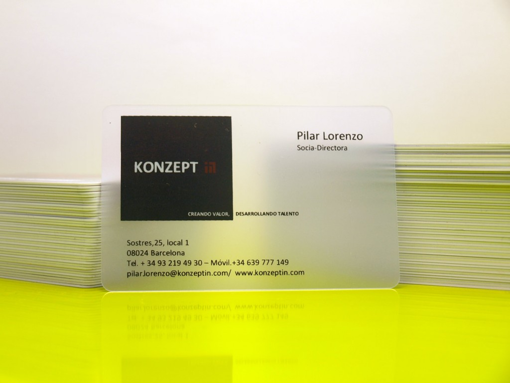 tarjetas plásticas transparentes