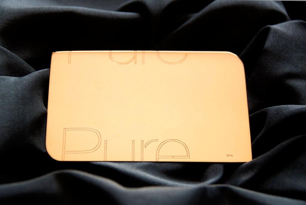 tarjeta plástica precius metal
