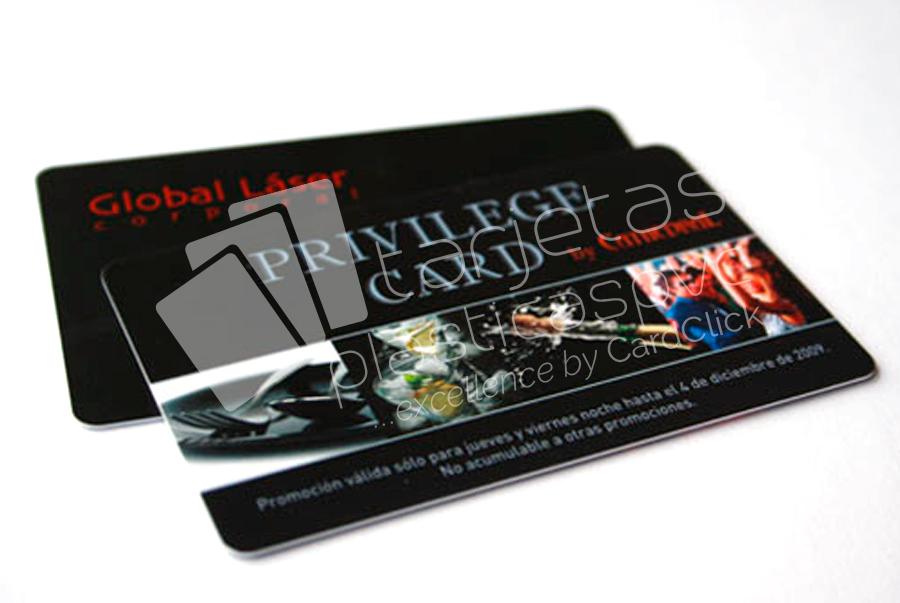 tarjetas plásticas global laser