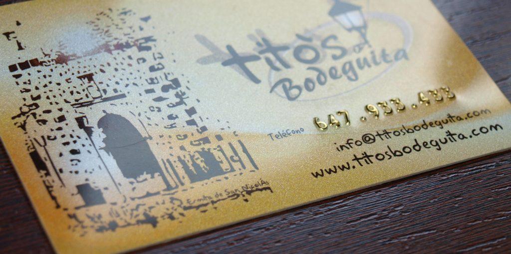 tarjetas plásticas metalizadas