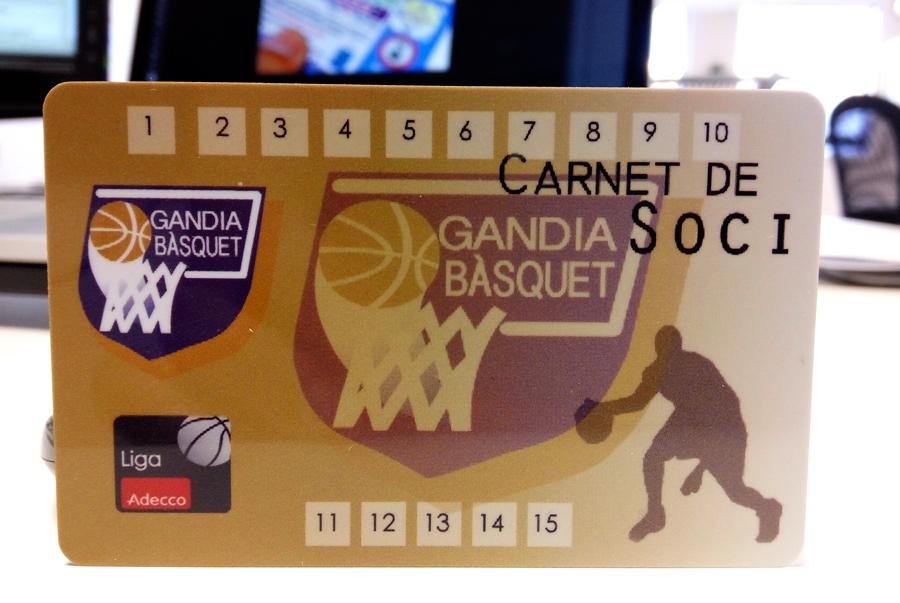 tarjetas plásticas socios baloncesto