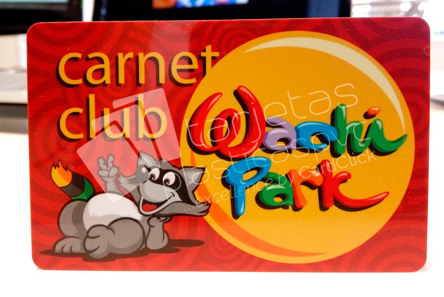 tarjetas plásticas wachi park