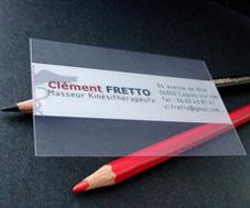 tarjetas transparentes pvc