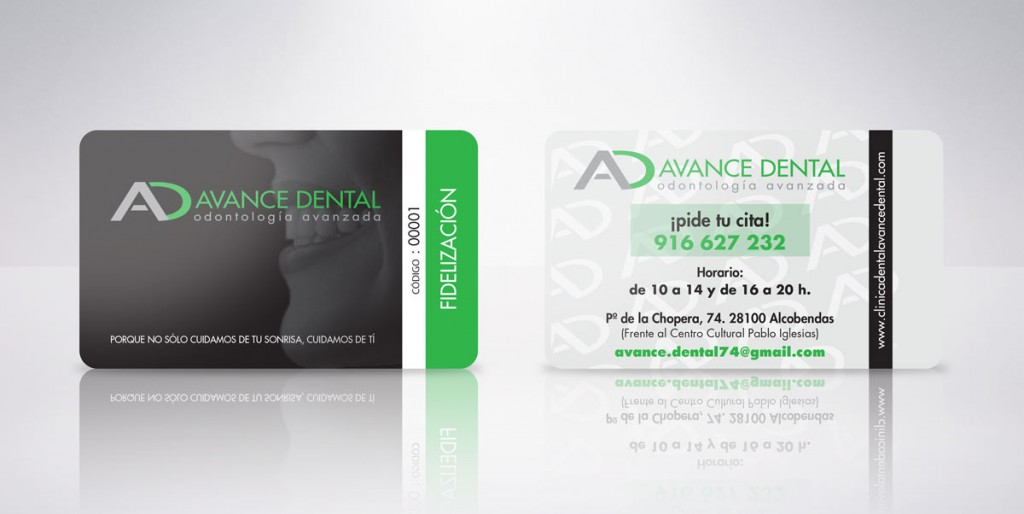 tarjeta plastica advance dental