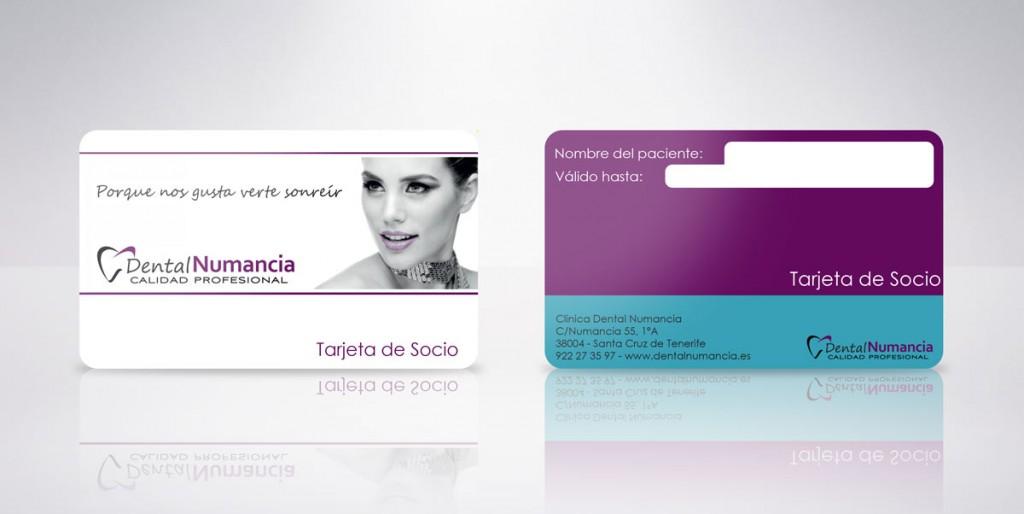 tarjeta plastica dental numancia