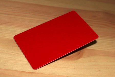 tarjetas plásticas rojas