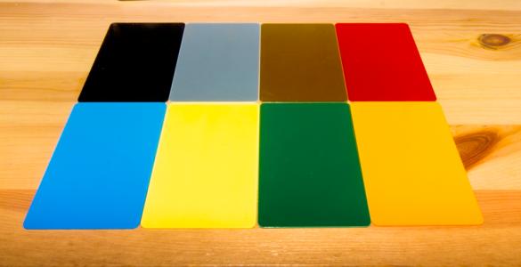 tarjetas plásticas colores