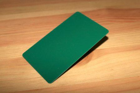 tarjetas plásticas verdes