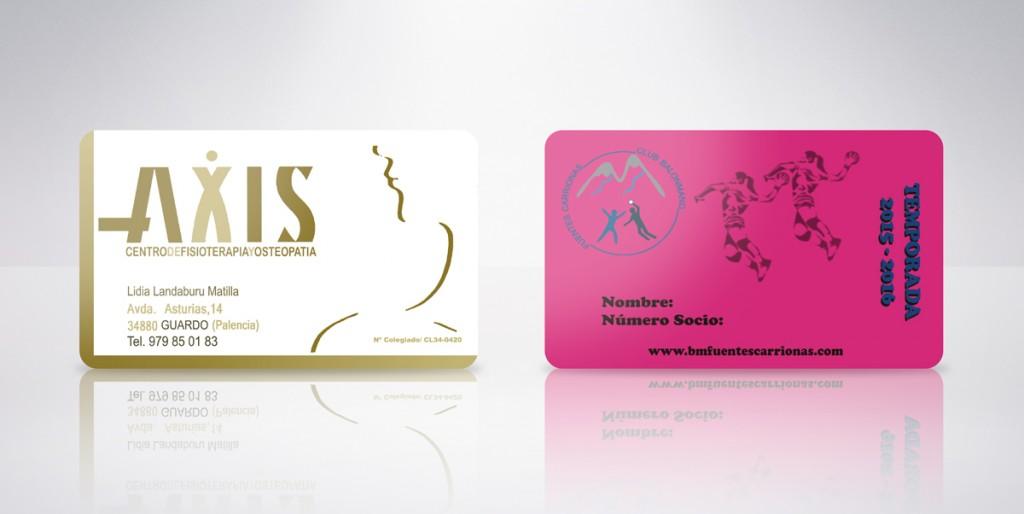 tarjeta plástica axis