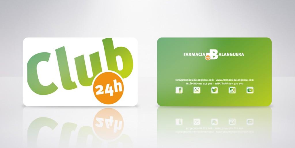 tarjeta plástica farmacia balanguera