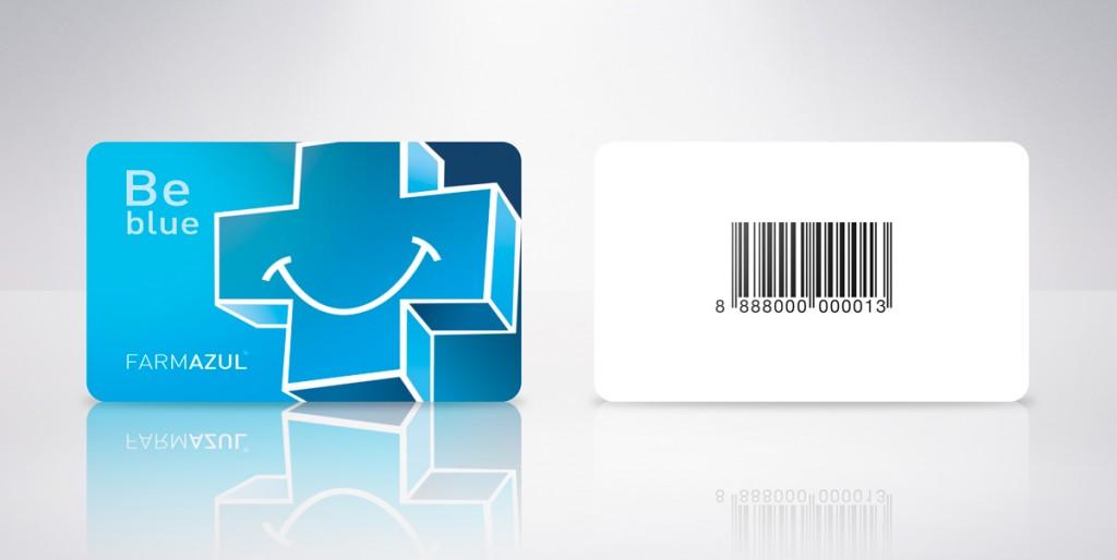 tarjeta plástica farmazul