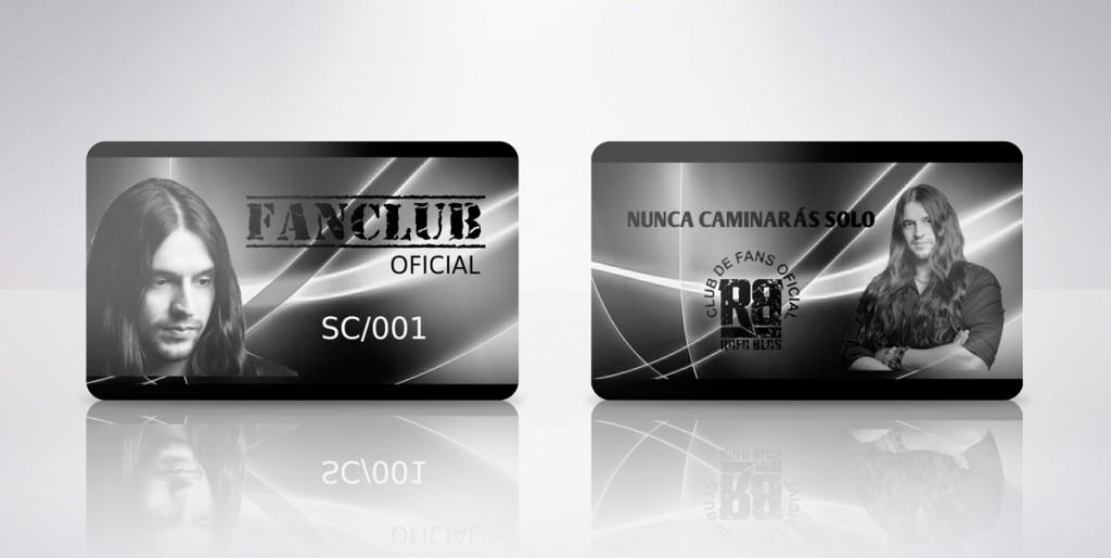 tarjeta plástica club de fans
