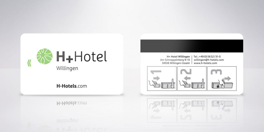 tarjetas plásticas hoteles